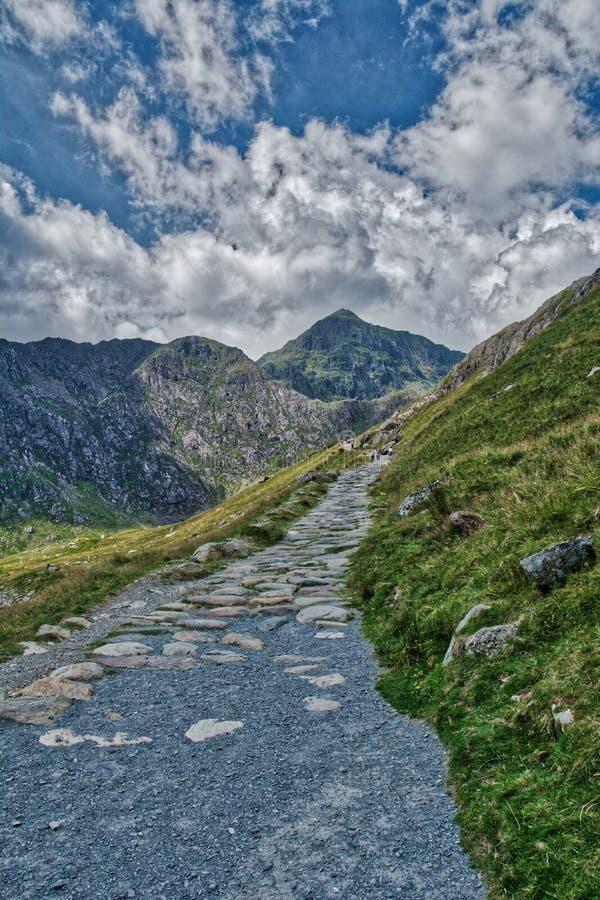 Snowdonia ans góra Snowden zdjęcie stock