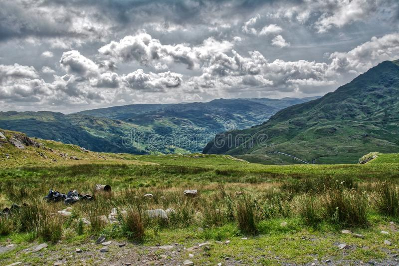 Snowdonia ans Mount Snowden. royalty free stock image