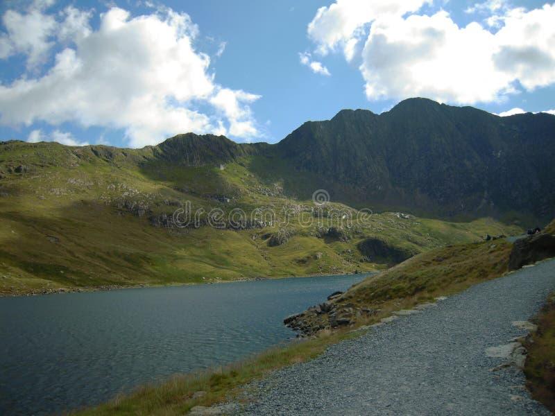 Snowdonia härliga Wales Taget från de Snowdonia maxima trevligt väder arkivfoton