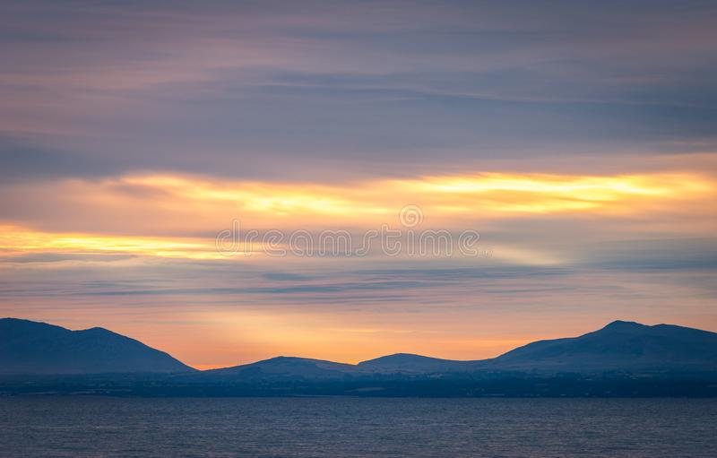 Snowdonia National Park In North Wales with the mountains in the background make a stunning landscape royalty free stock photos