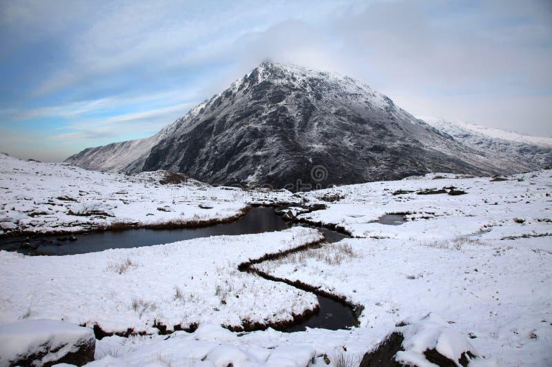 Snowdonia no inverno fotografia de stock royalty free