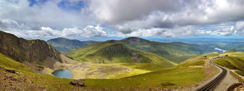 Snowdonia panorama obraz royalty free