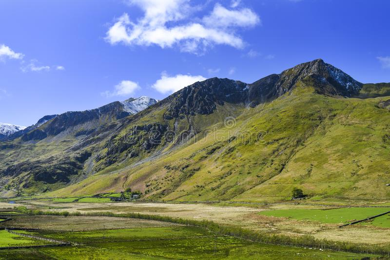 Snowdonia park landscape in England stock photo