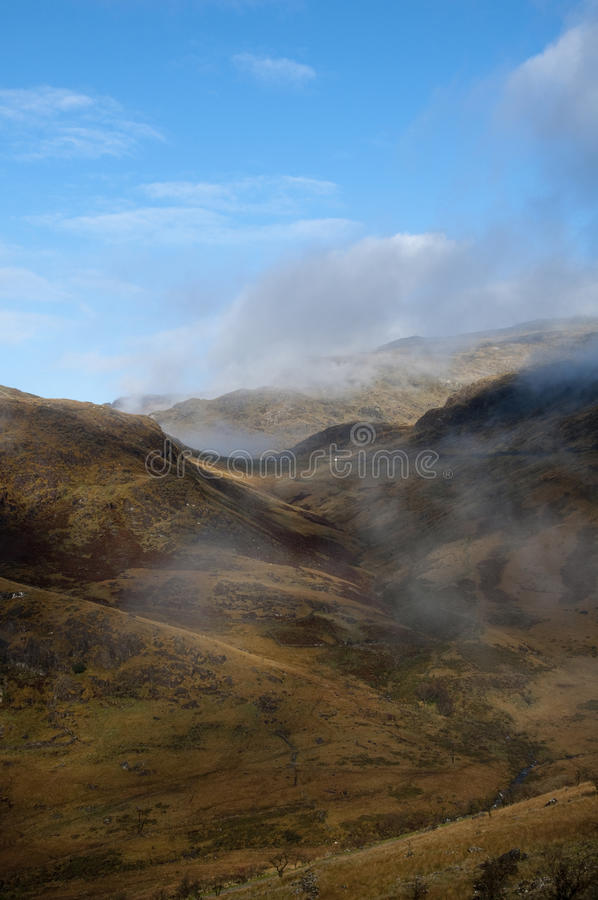 Download Snowdonia valley landscape stock photo. Image of clouds - 28747522