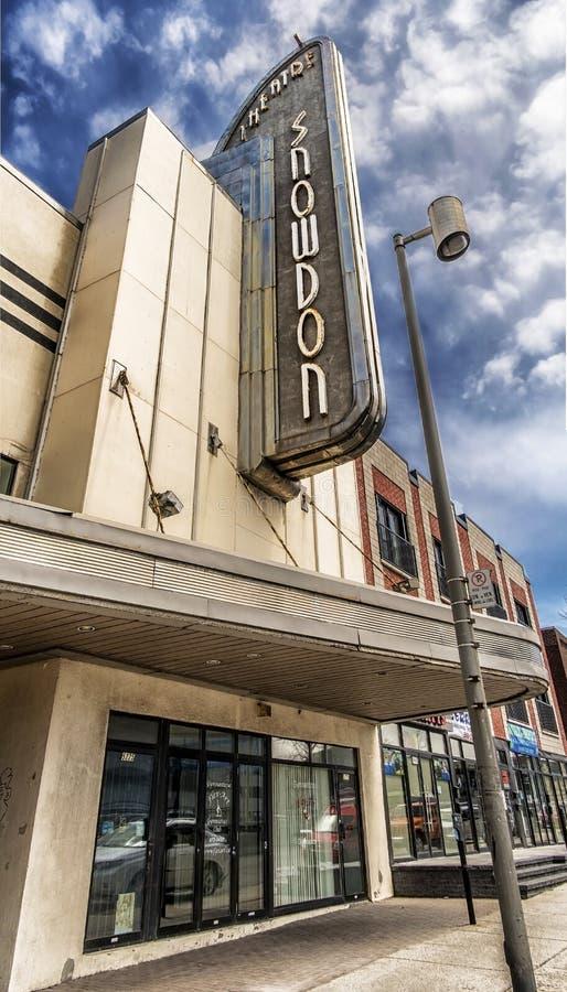 Snowdontheater royalty-vrije stock foto