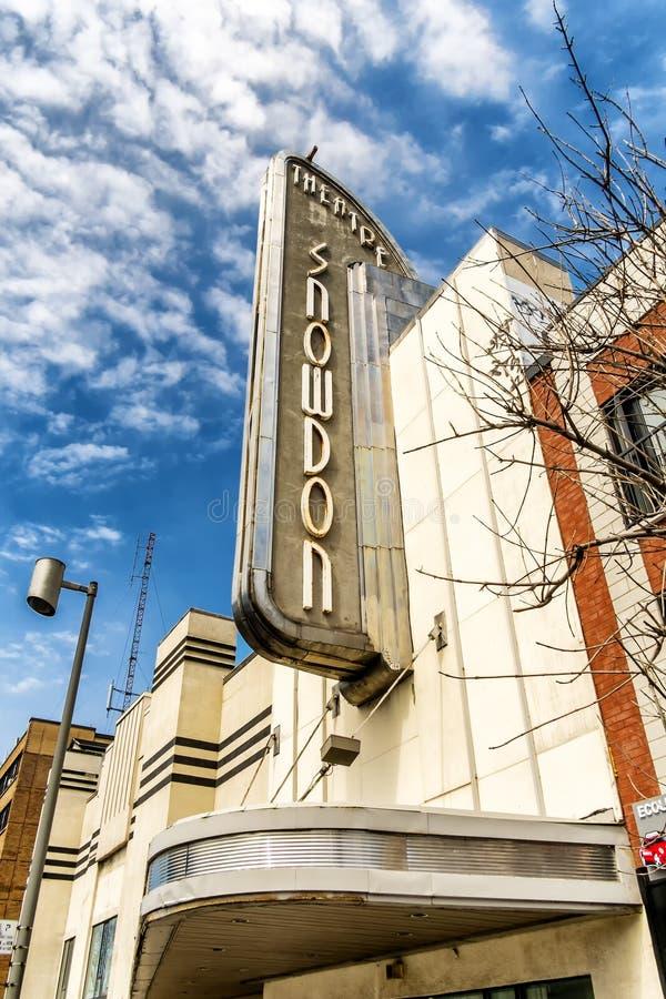 Snowdontheater stock foto
