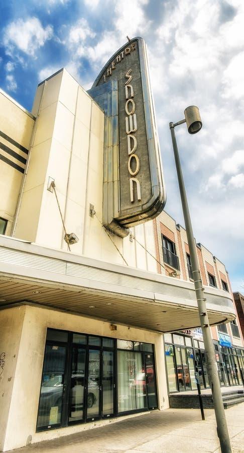 Snowdontheater stock afbeeldingen