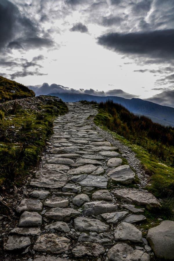 Snowdown-Weg Wales, Großbritannien lizenzfreie stockfotografie