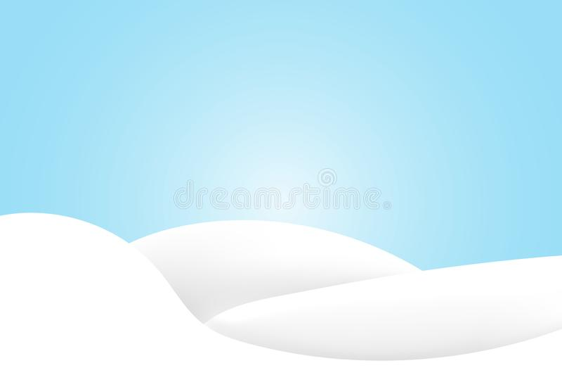 Snowdrift που απομονώνεται ρεαλιστικό Διανυσματική απεικόνιση με τους λόφους χιονιού χιονώδης χειμώνας τοπίων 10 eps στοκ εικόνα