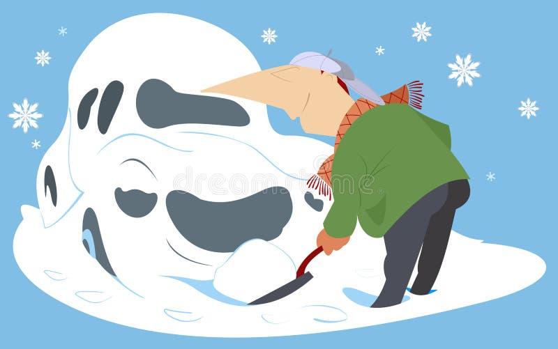 snowdrift ilustración del vector