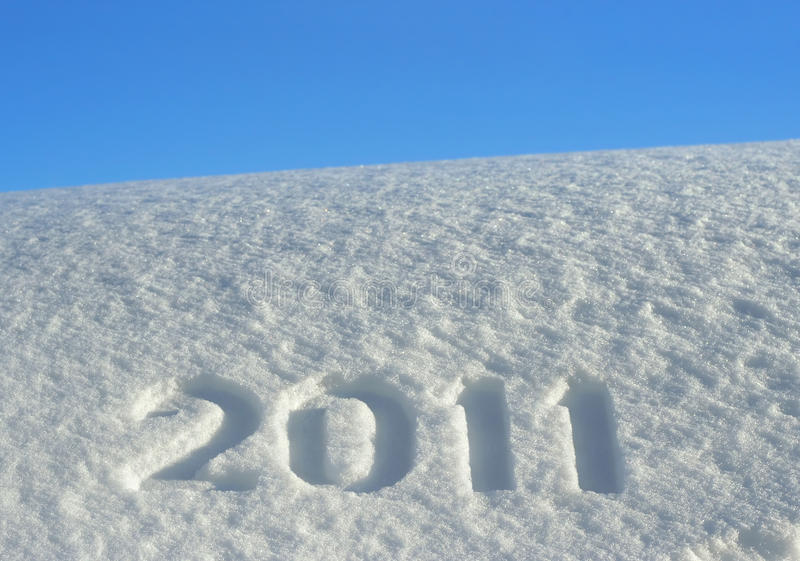 snowdrift för 2011 nummer royaltyfri foto