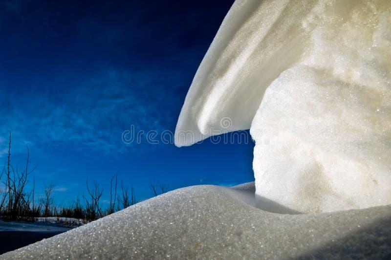 snowdriftssundown arkivfoton