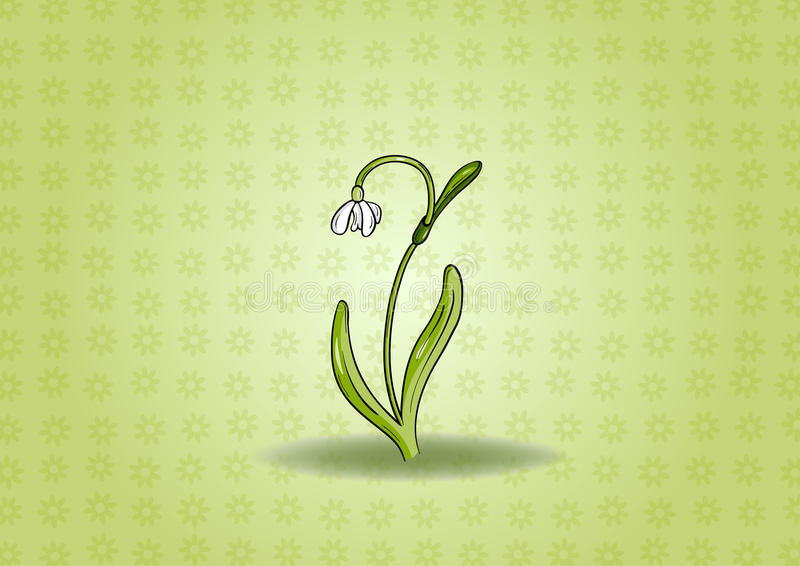 Download Snowdrop background stock illustration. Illustration of elegant - 23006390
