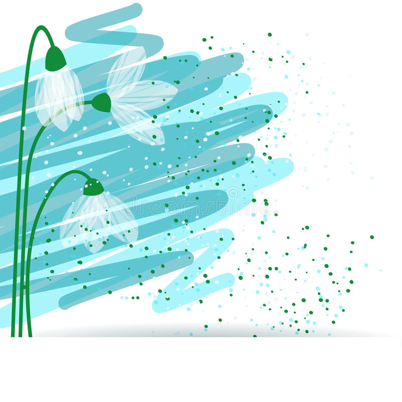 Download Snowdrop background stock illustration. Image of greeting - 29620365
