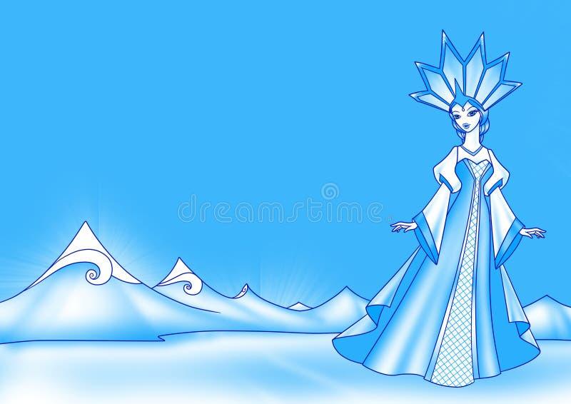 Snowdrottning vektor illustrationer