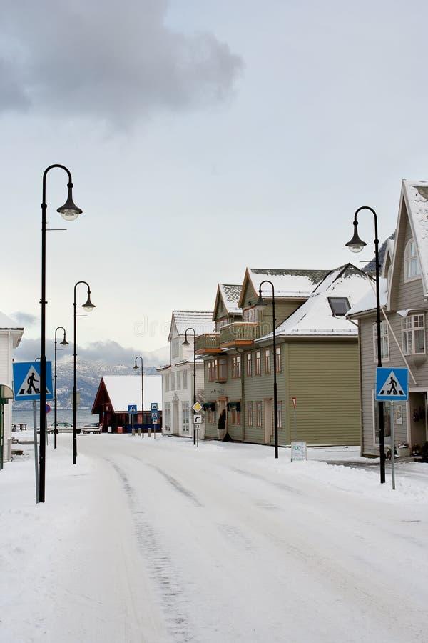 Free Snowed Norwegian Street Stock Photos - 27646643