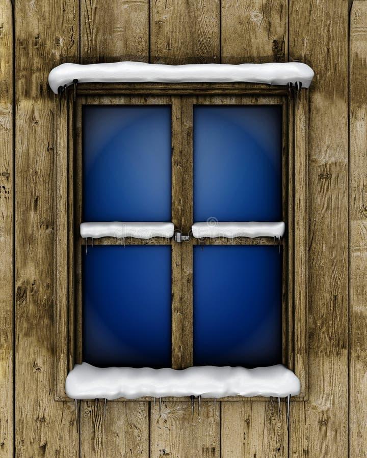 snowfönster royaltyfri illustrationer