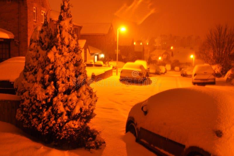 Snowfaall BRITÁNICO foto de archivo libre de regalías