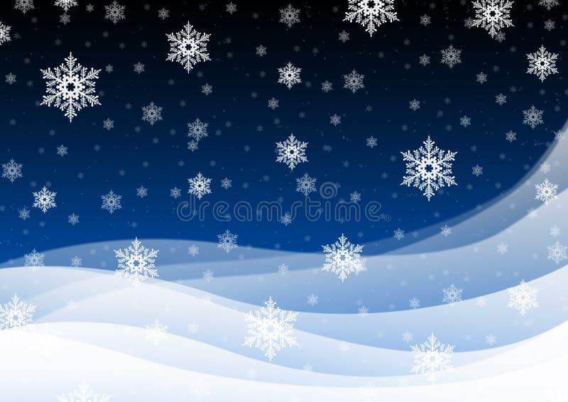 Snowfall vektor illustrationer