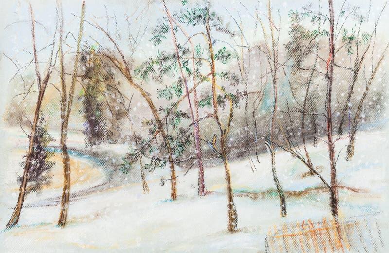 snowfall ilustração stock