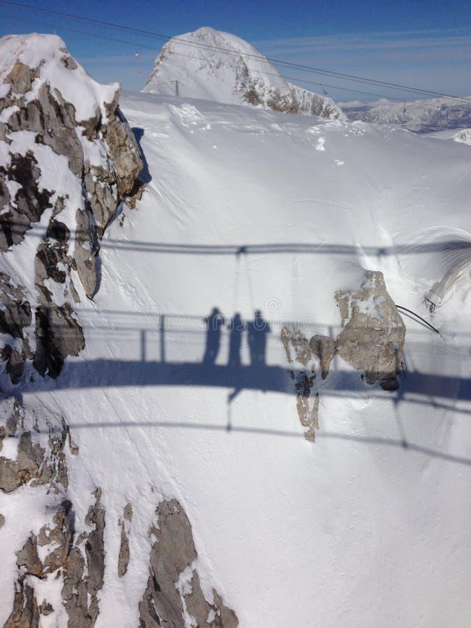 Snowfall , Der Dachstein Area ustria, Ramsau. Snowfall in Austria, Ski Amade, Salzburgerland, glacier , Der Dachstein, Ramsau royalty free stock photography