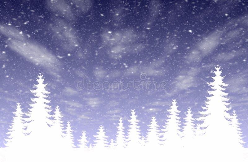 Download Snowfall & forest stock illustration. Illustration of trees - 359113