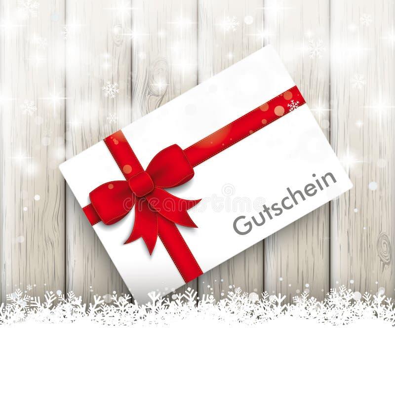 Snowfall glitter coupon ash wooden background stock for Smow gutschein