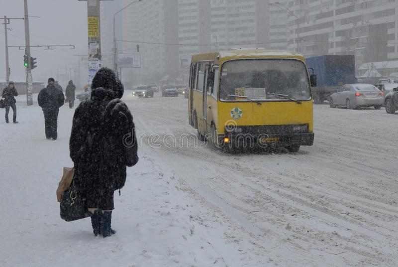 Download Snowfall In Kiev. Editorial Stock Image - Image: 12256039