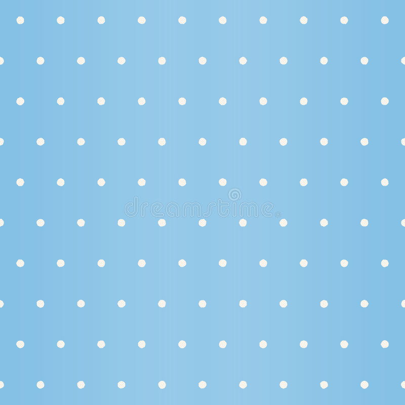 Snowfall pattern. Seamless vector polka dot background. With white spots on sky blue backdrop vector illustration