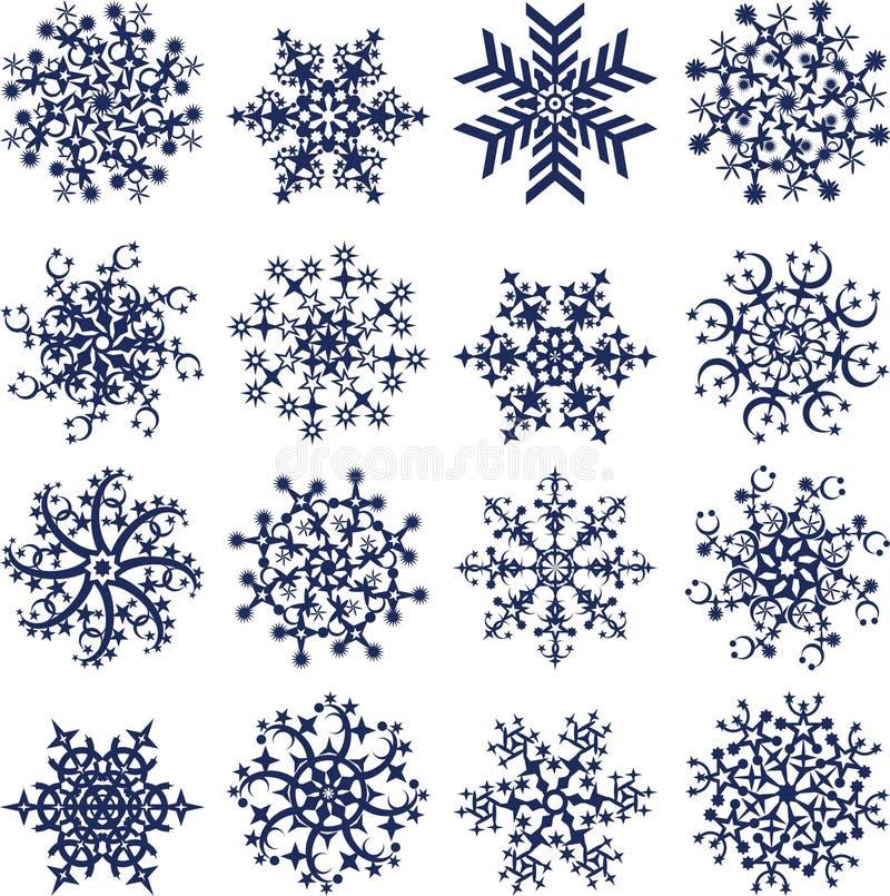 snowfiake white wektor ilustracji