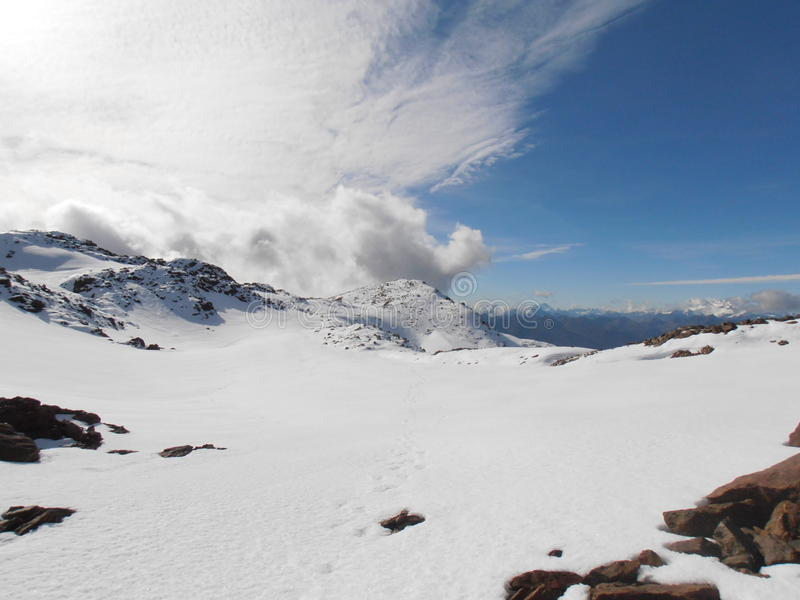snowfield image stock