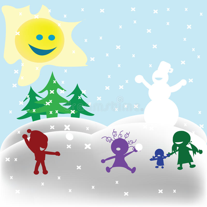 Snowfight Stock Photography