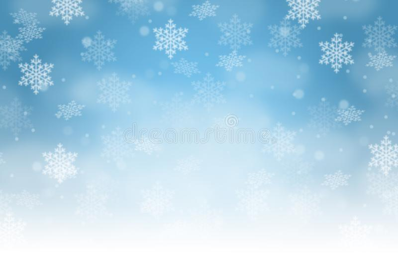 Snowfla χιονιού χειμερινών διακοσμήσεων σχεδίων καρτών υποβάθρου Χριστουγέννων ελεύθερη απεικόνιση δικαιώματος