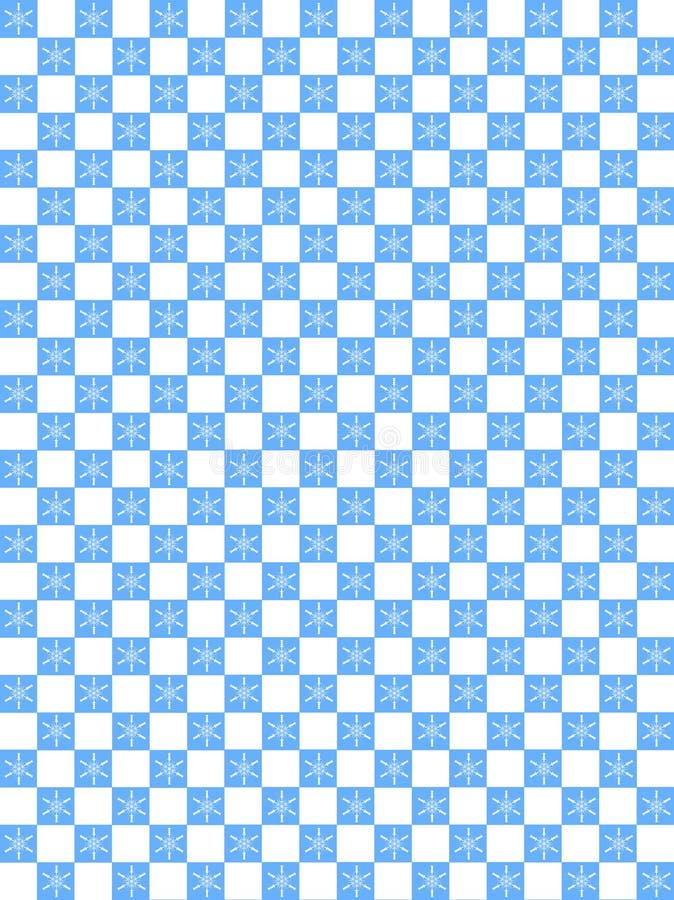 Snowflak sveglio su a quadretti blu e bianco fotografia stock libera da diritti