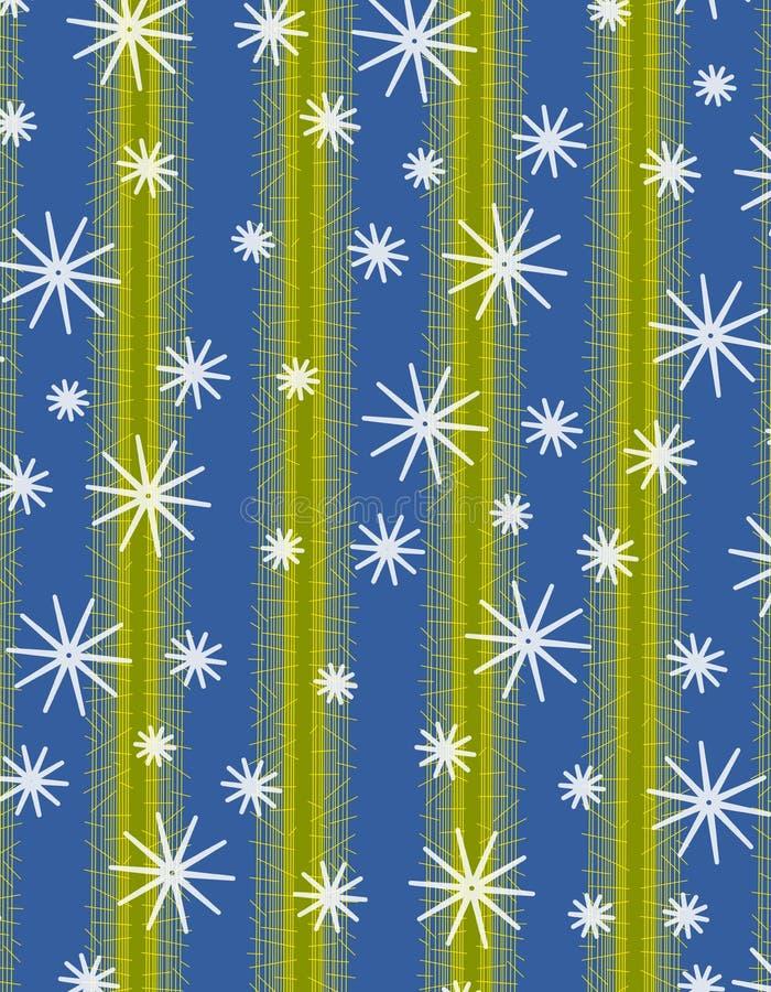 snowflake ανασκοπήσεων Χριστούγ& διανυσματική απεικόνιση