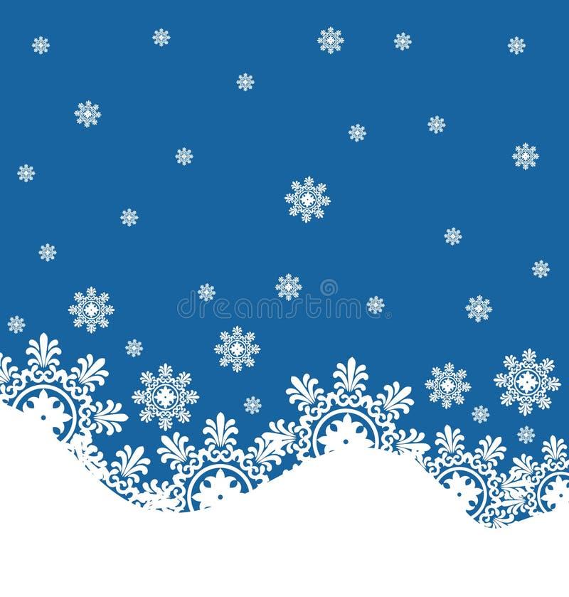 snowflake ανασκόπησης χειμώνας ελεύθερη απεικόνιση δικαιώματος