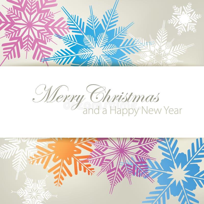 Snowflake ανασκόπηση Χριστουγέννων διανυσματική απεικόνιση