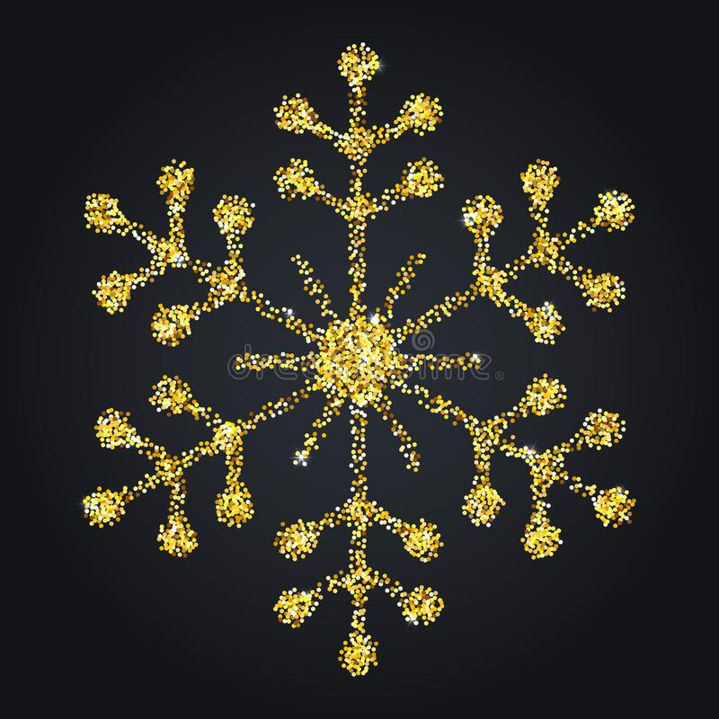 Snowflake διανυσματική απεικόνιση Χριστουγέννων συμβόλων ελεύθερη απεικόνιση δικαιώματος