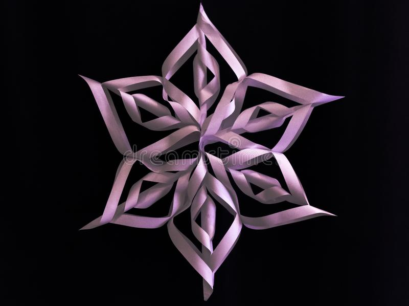 Snowflake εγγράφου στοκ φωτογραφία με δικαίωμα ελεύθερης χρήσης