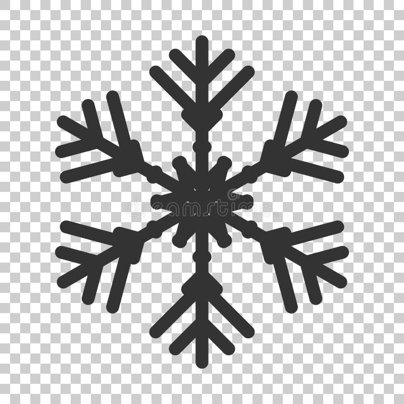 Snowflake εικονίδιο στο επίπεδο ύφος Χειμερινό διάνυσμα νιφάδων χιονιού illustrat διανυσματική απεικόνιση