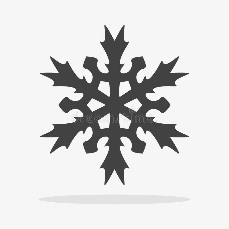 snowflake εικονίδιο επίπεδο απεικόνιση αποθεμάτων