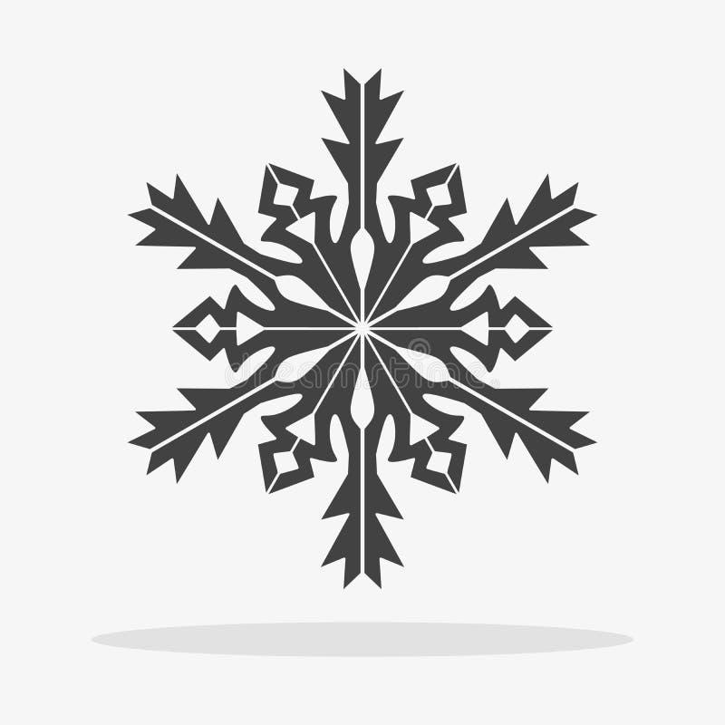 snowflake εικονίδιο επίπεδο διανυσματική απεικόνιση