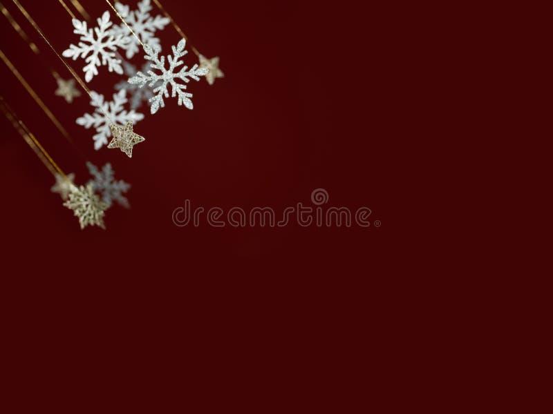Snowflake ευχετήρια κάρτα Χριστουγέννων στοκ φωτογραφία