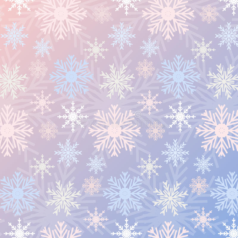 Snowflake η άνευ ραφής κλίση σχεδίων αυξήθηκε χαλαζίας και η ηρεμία χρωμάτισε το εκλεκτής ποιότητας υπόβαθρο διανυσματική απεικόνιση
