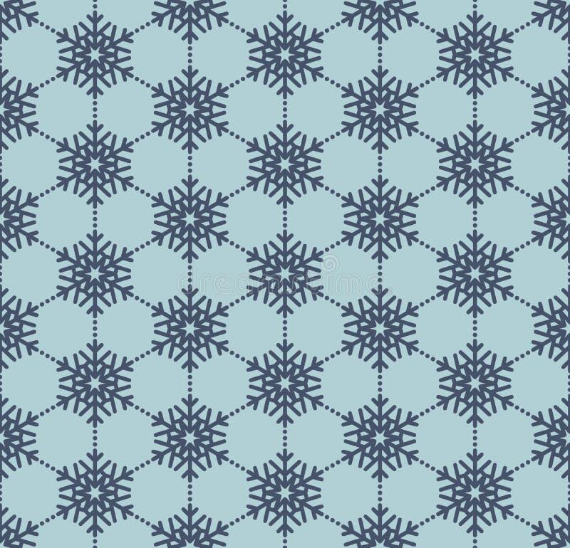 Snowflake μπλε άνευ ραφής σχέδιο 10 eps διανυσματική απεικόνιση