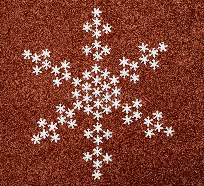 Snowflake πέρα από το κόκκινο ακτινοβολεί υπόβαθρο στοκ εικόνες