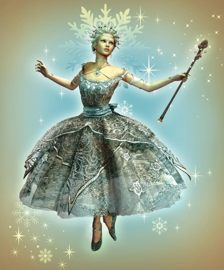 snowflake πριγκηπισσών ελεύθερη απεικόνιση δικαιώματος