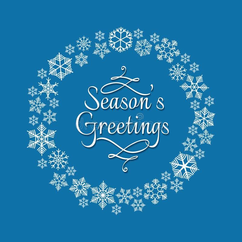 Snowflake στεφάνι για την πρόσκληση Χριστουγέννων ελεύθερη απεικόνιση δικαιώματος