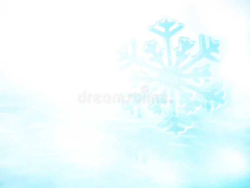 Snowflake στο χιόνι Υπόβαθρο χειμερινών διακοπών στοκ φωτογραφίες με δικαίωμα ελεύθερης χρήσης