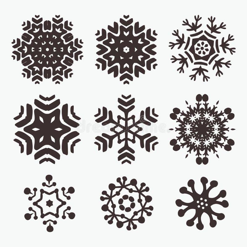 Snowflake σύνολο ελεύθερη απεικόνιση δικαιώματος